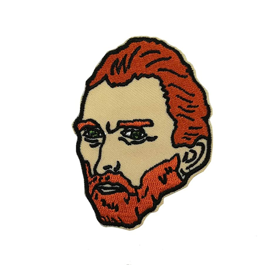 Van Gogh Portrait Embroidered Iron on sew on Patch Funny Badge