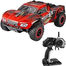 SSBH 2.4G Control Remoto Speed Racing Car Independiente Suspensión Monster Off-Road Climbing Race Car 25km / h RC Muscle Extreme Monster Truck Buggy Toy Niños y Adultos Cumpleaños (Color : Rojo)