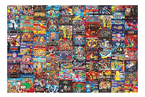 Pinball Parlor Retro Arcade Puzzle for Adults and Kids | 1000 Piece Jigsaw Puzzle Toy | Interactive Brain Teaser for Family Game Night | 28 x 20 Inches