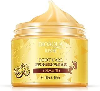 BIOAQUA Foot Care Herbal Massage Scrub-Exfoliating Cream Cleansing Delicate Feet Skin Shea Oil Natural Extracts180g