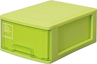 サンコープラスチック 小物収納 シルキー 幅25.2×奥35×高14.9cm グリーン