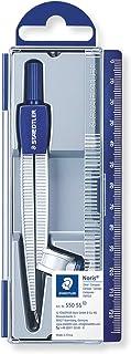 Staedtler Noris 550, Compas scolaire de précision avec attache-compas universelle intégrée pour crayon à papier, Idéal pou...
