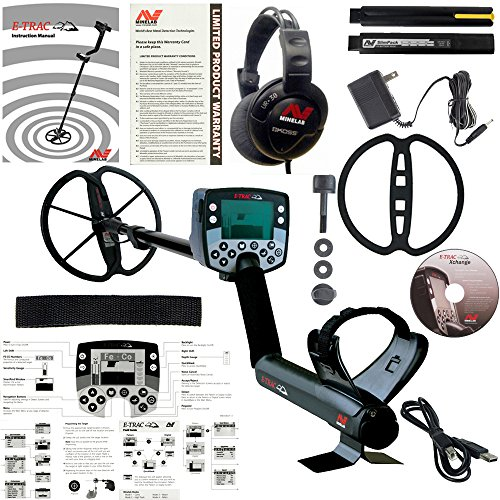 Minelab E-Trac Metal Detector with 11' DD Search Coil and 3 Year Warranty