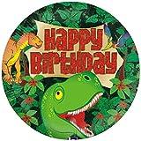 Tortenaufleger Tortenfoto Aufleger Foto Bild Dinosaurier rund ca. 20 cm