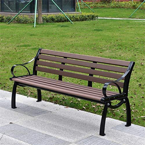ZXF- Panchina da Giardino All'aperto, Piccola Panchina in Metallo con Sedili in Legno, Prato, Balcone, Cortile, Veranda E Interni