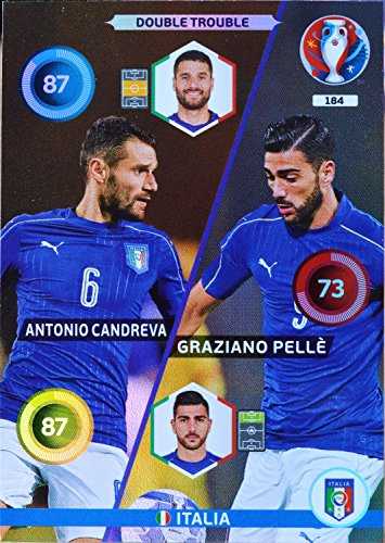 carte PANINI EURO 2016 #184 Candreva - Pellé