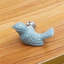 keramische vrede duif lade knoppen 3D cartoon vogel kast handvat nieuwigheid creatieve mode meubels handgrepen hardware-blauw