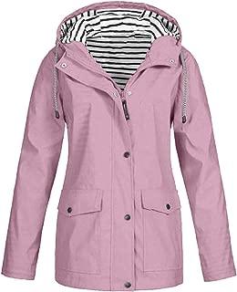 Waterproof Lightweight Rain Jacket Active Outdoor Hooded Raincoat for Women