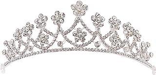 Dongyu Corona, Accessori for Copricapi for La Cerimonia Nuziale della Fascia della Corona di Strass della Sposa Semplice d...