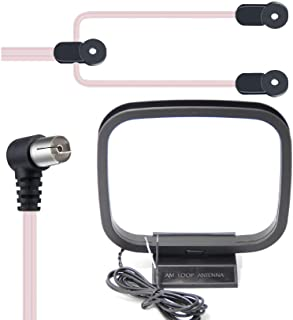 FM/AM Radio Antenna, Ancable Indoor Dipole PAL Female FM Antenna and Bare AM Loop Radio Antenna Kit for Pioneer, Yamaha, S...