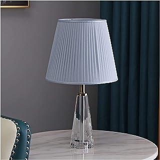 Lampes de table Lampe De Salon Lampe de table moderne 18,1 pouces Hauteur, 10,2 pouces de diamètre avec cristaux clair Cou...