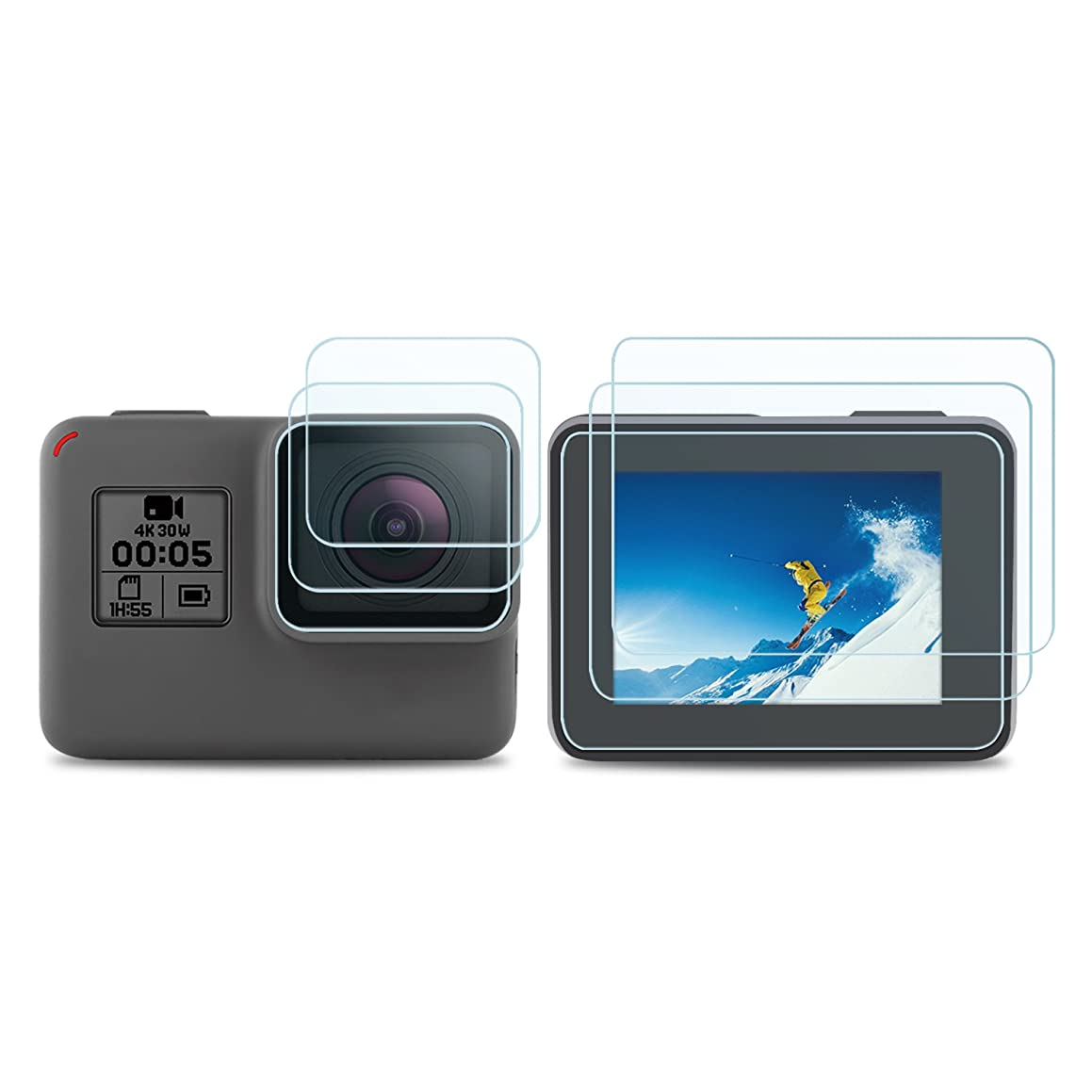 iTrunk Screen Protector Compatible for GoPro Hero Hero 7 Black (2018) / 6/5, LCD Display Screen Protector Lens Protector Film Compatible for GoPro Hero7 Hero (2018) Hero6 Hero5 Black k76991254912