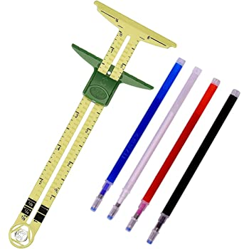 Metal Sewing Gauge Measuring Sliding Guide Sewing Tool Multifuction Portable