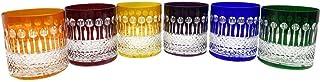 6 Verres à Whisky à Apéritif et à Eau en Cristal - 6 Couleurs Assorties - Service Roemer Diamant (28 cl) - Maison Klein - ...