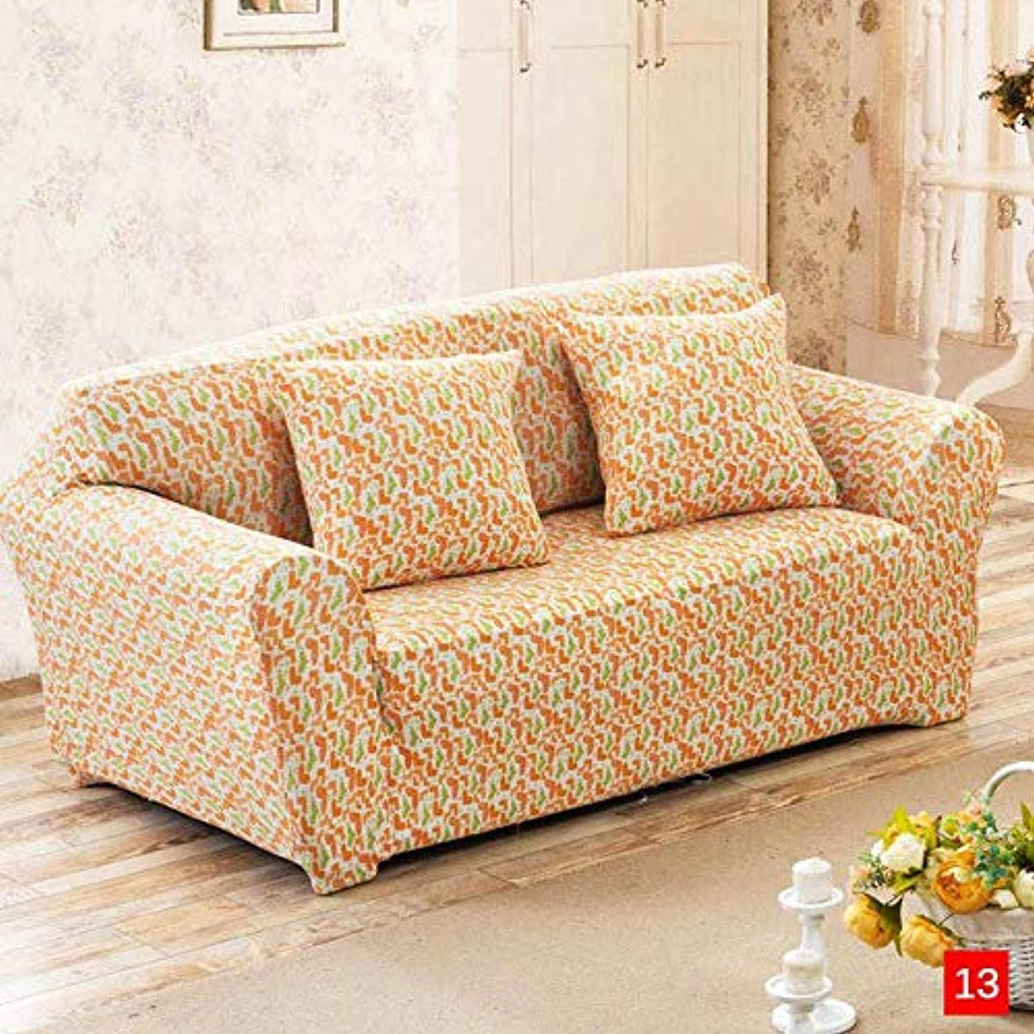 Spandex Stretch Sofa Cover Sectional Sofa Couch Cover Slipcovers for Living Room housse canape slipcover 1 2 3 4 Seater   color 26, Single seat