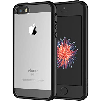 JETech Funda Compatible iPhone SE 2016 (NO es Compatible 2020) 5s 5, Carcasa Anti-Choques/Arañazos (Negro)