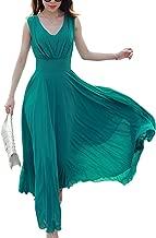 Ronshin Skirts Fashionable Bohemia Style Chiffon Sleeveless Long Dress Stylish Skirt Gift Beach Party Wear