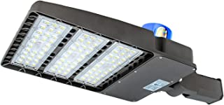 LED Parking Lot Lighting 300W,100-277V LED Shoebox Area Light, 5500K Daylight White,36000 Lumens,1000W Metal Halide Equivalent (300W Slip Fit)