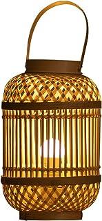 table lamp المنسوجة المنسوجة مصباح الجدول الخيزران، غرفة المعيشة غرفة الدراسة غرفة الدراسة مقهى آرت ديكو الإضاءة Bedside Lamp
