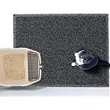Asvin Thick Premium Cat Litter Mat, 24' x 31', Soft on Pet Paws, Traps Litter and Dirt from Kitty, Water Resistant, Scatter Control, Easy Clean, Pet Mats for Litter Boxes & Floor