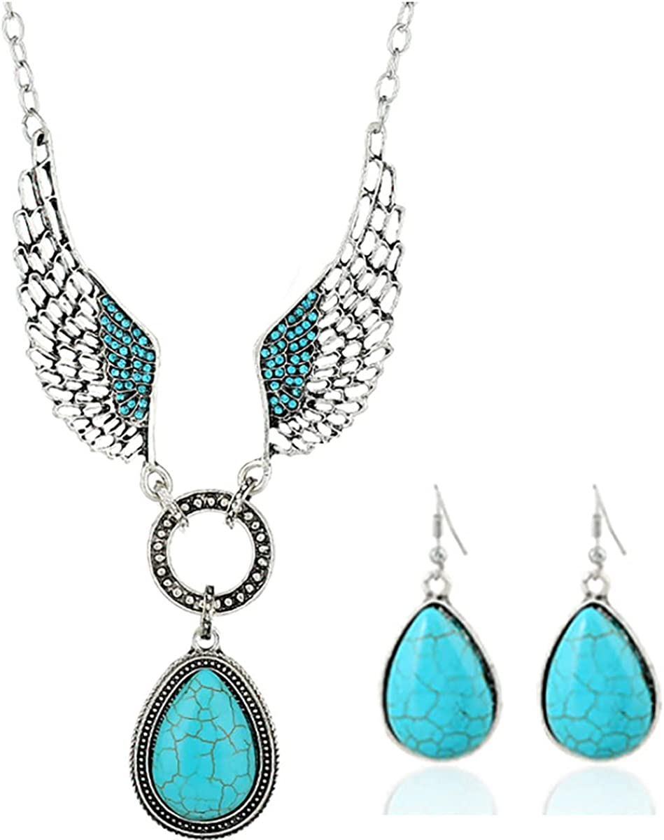 QIQILUXI Women Pearl Rhinestone Pendant Necklace and Rhinestone Pearl Earrings Girl Bridesmaid Jewelry Set