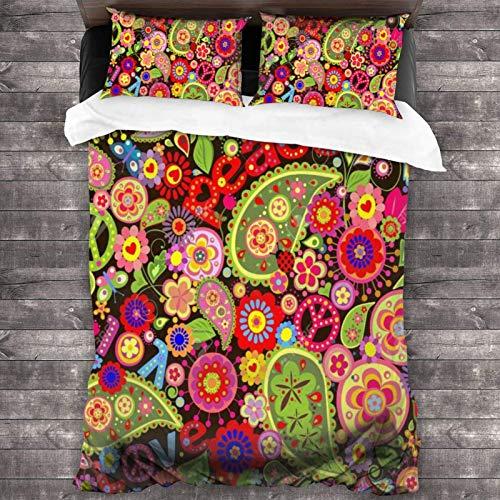 Maja Shop, set di biancheria da letto unisex in 3 pezzi, con chiusura a cerniera, super morbido, in microfibra, con federa per camera da letto, camera degli ospiti e hotel