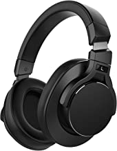 Mixcder E8 Active Noise Cancelling Headphones, Wireless Bluetooth Headphones Over Ear with Microphone, Stereo Sound, Deep Bass, Portable Design, 20H Playtime for Travel, TV, PC, Phones - Black