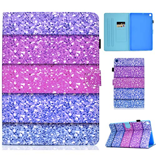 WHWOLF Suitable for Samsung Galaxy Tab A7 10.4 Case 2020 SM-T500/ SM-T505 Tablet Case with Card Holder & Fold Stand & Magnetic Clasp & Silicone TPU Protective Flip Cover Shell -q58