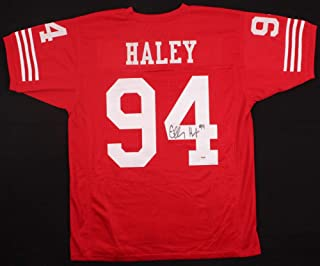 Charles Haley Autographed Signed Autograph San Francisco 49ers Jersey PSA/DNA 5X Super Bowl Champion