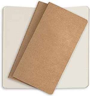 Dotted Notebook Paper Refills 3 Pack Cream Dot Grid Inserts for Standard Refillable Travelers Leather Travel Journals 8.5 x 4.5. Traveller's Journal Thick Spare Dots Paper Insert for TN Travel Diary