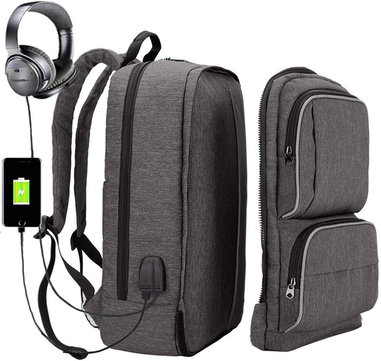 GONGFF Smart Anti-Diebstahl-Rucksack Outdoor-Sportarten USB Computer Rucksack benutzerdefinierte Tasche abnehmbare Multifunktionsrucksack mnnlich