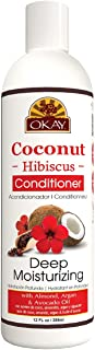OKAY | Coconut Hibiscus Conditioner | For All Hair Types & Textures | Restore - Hydrate - Strengthen | With Almond, Argan ...