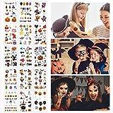 15 Blätter Halloween Temporäre Tattoo Aufkleber Für Kinder Party Geburtstage Halloween Kostüme...