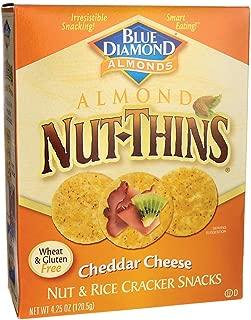 Blue Diamond Almond Nut-Thins Cracker Snacks - Cheddar Cheese - 4.25 oz