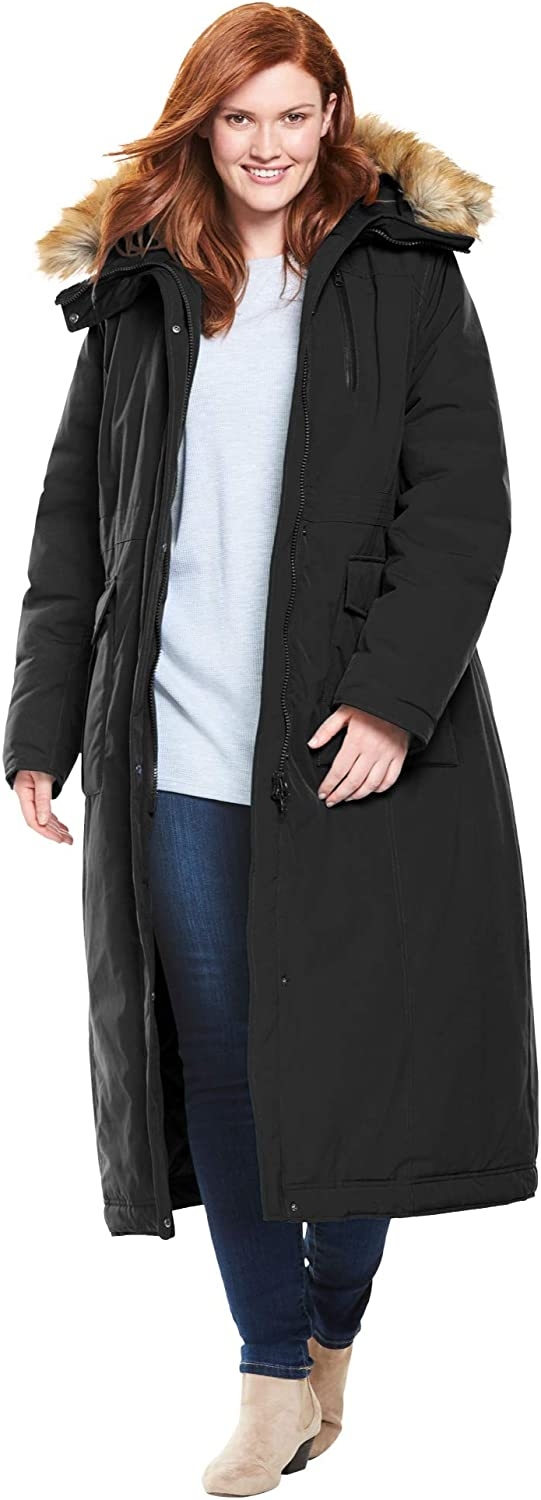 Woman Within Women's Plus Size The Arctic Parka In Extra Long Length Coat