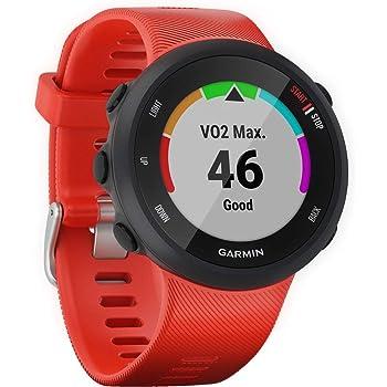 Garmin 010-N2156-06 Forerunner 45 GPS Heart Rate Monitor Running Smartwatch (Lava Red) - (Renewed)