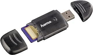 Hama 6-in-1kart okuyucu (MMC, SD, SDHC, SDXC, USB 2.0) Siyah 00114731