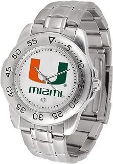 Miami Hurricanes Men's Sport ''Game Day Steel'' Watch