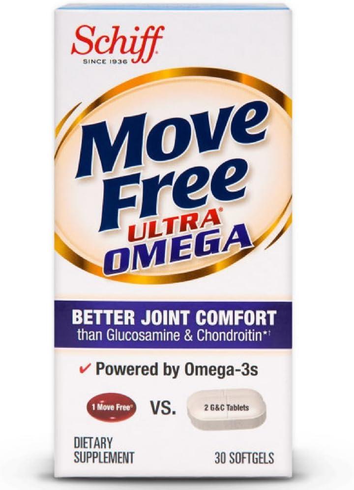 Move Free Ultra Omega 30 softgels 注目ブランド - Health メーカー在庫限り品 Supplement wit Joint