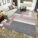 Kunsen Decoracion de Salones alfombras de Pasillo Alfombra Rectangular Gris Sala de Estar Decoración de la Sala de Estar Condación Sucia alfombras Exterior Jardin 140X200CM 4ft 7.1' X6ft 6.7'
