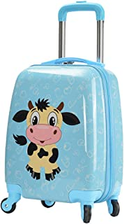 YCYHMYFABS Material Kids Cartoon Trolley Suitcase Password Travel Suitcase Blue