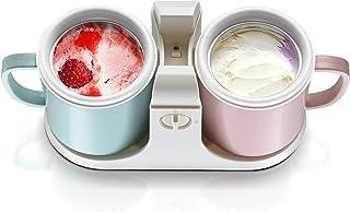 Ice Cream Machine, Household Automatic Double Bucket Ice Cream Machine,DIY Ice Cream Machine,Mini Multifunctional Fruit So...