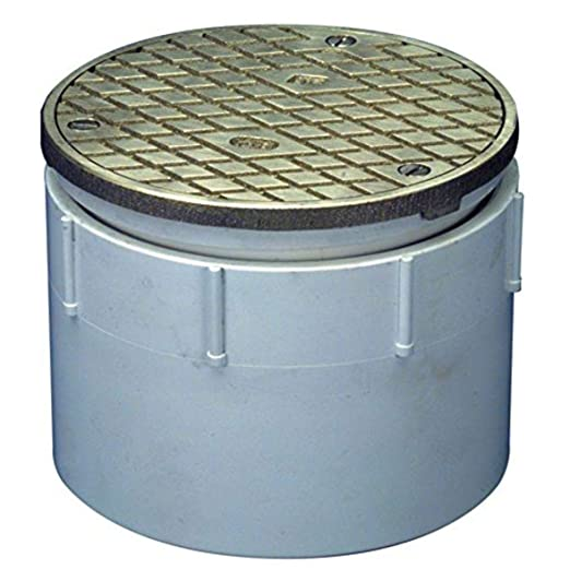 3 ID Zurn CO2400-PV3 PVC Floor Cleanout with Cast Iron Top