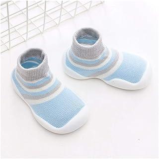 LiuQ, Bebé Calcetines Zapatos de los bebés de los muchachos Zapatos andadores infantiles de los zapatos del niño de la zapatilla de deporte suave suela de goma bebé recién nacido del bebé de los botines de