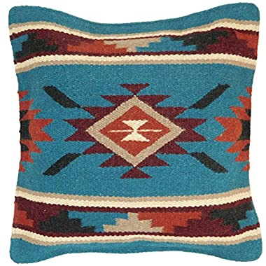 Throw Pillow Covers, 18 X 18, Hand Woven in Southwest and Native American Styles. Hand Crafted Western Decorative Pillow Cases in Wool. (Tortoise 10)
