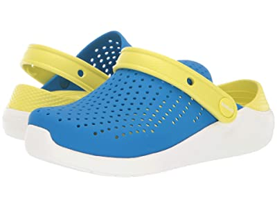 Crocs Kids LiteRide Clog (Little Kid/Big Kid) (Bright Cobalt/Citrus) Kid