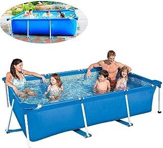 Piscina Rectangular - 300 X 200 X 75 Cm Frame Pool para Niños Adultos Jardín al Aire Libre Patio Trasero Fiesta de Agua de Verano