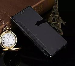 Galaxy S8 Plus Mirror Case, Translucent View Flip Cover, Shiny Plating Make Up Mirror, OMORRO Smart Sleep/Awake Hard Case for Samsung Galaxy S8 Plus, Black