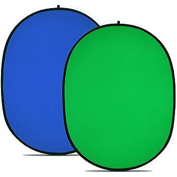 Neewer 10039506 Toile de Fond Chromakey Bleu et Vert Pliable, Fond Arrière Plan Pliable Réversible pour Photographie de 150 x 200 cm Bleu et Vert