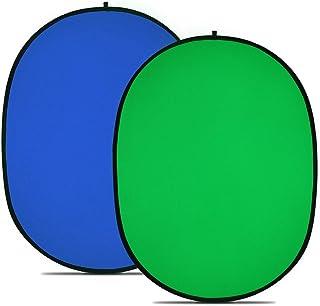 "NEEWER 折り畳み式 リバーシブル クロマキー 背景 グリーン/ブルー 59""x79""/150cmx200cm 【並行輸入品】"